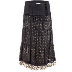 Tao Comme des Garçons Black Tulle Skirt with Gold Dots