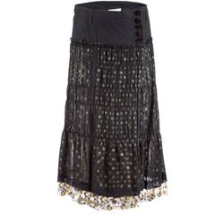 Tao Comme des Garçons Black Tulle Skirt with Gold Dots