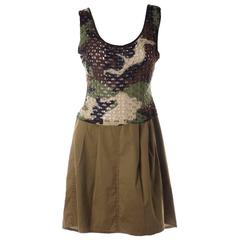 Christian Dior Early 00's Camouflage Print Dress