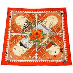 Hermes Red/Orange Varangues 90cm Silk Scarf