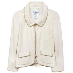 Chanel Cream Boucle Jacket sz FR40