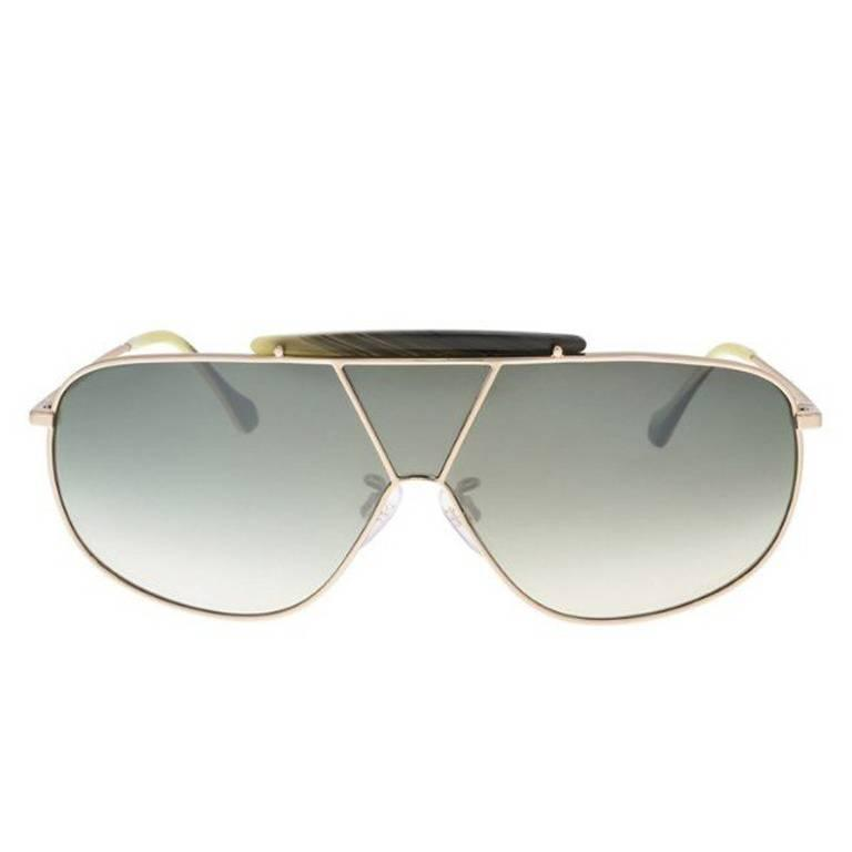 Balenciaga BA0030 28P 66 Shiny Rose Gold / Gradient Green Sunglasses For Sale