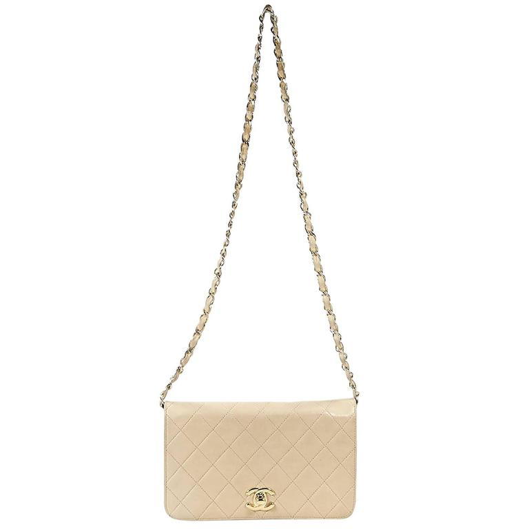 Tan Vintage Chanel Small Crossbody Bag 1