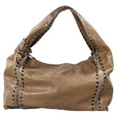 Brown Jimmy Choo Large Saba Shoulder Bag