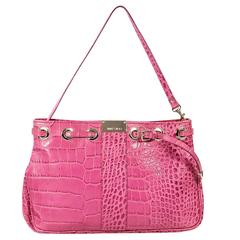 Pink Jimmy Choo Embossed Shoulder Bag