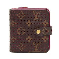 Louis Vuitton Perforated Monogram Canvas Pink Fuchsia Leather Compact Zip Wallet