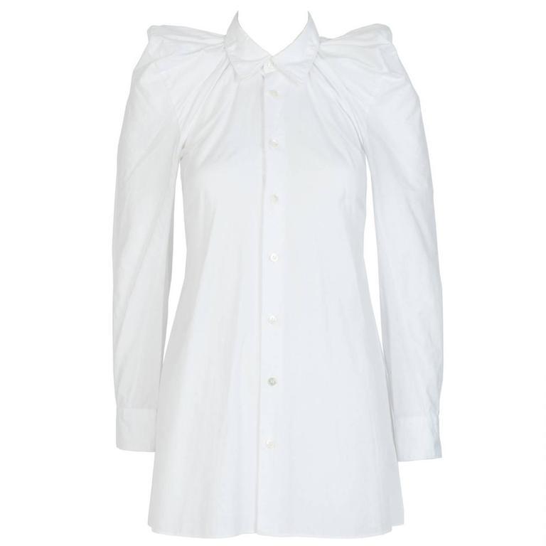 2009 JUNYA WATANABE  Exaggerated Shoulder Cotton Shirt