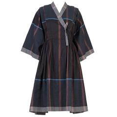 Kenzo Kimono Style Linen Dress