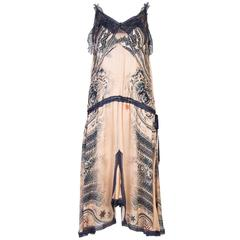 Jean Paul Gaultier Tattoo Print Lace Dress