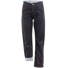 Maison Martin Margiela Artisanal Black Painted Jeans
