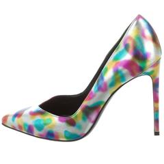 Saint Laurent New Rainbow Leather Evening Heels Pumps Shoes in Box