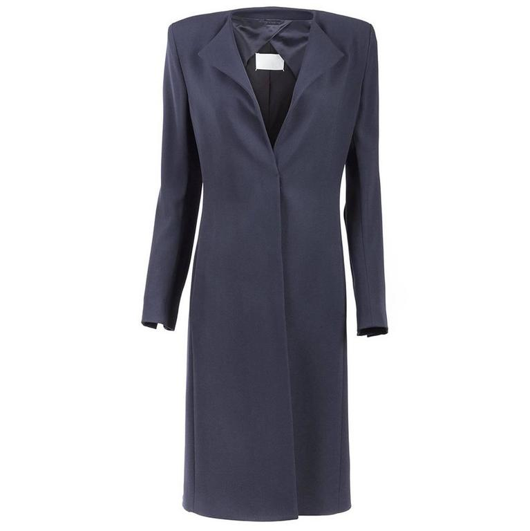 Maison Martin Margiela Collection Minimal Coat in Navy