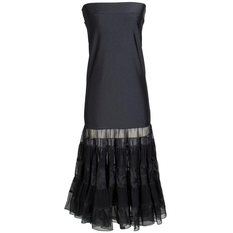 Jean Paul Gaultier Tube Skirt with Tiered Ruffles circa 2000s