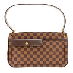 Louis Vuitton Aubagne Ebene Damier Canvas Shoulder Bag