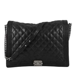 Chanel Boy Flap Bag Gentle Quilted Goatskin XL