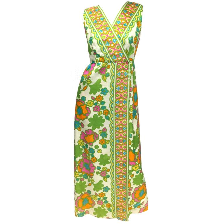 1960s Fantastic Mod Floral Panel Dress  1