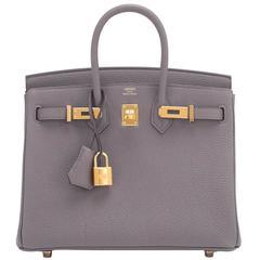 Hermes Etain Baby Birkin 25cm Togo Tin Grey Gold Hardware Darling