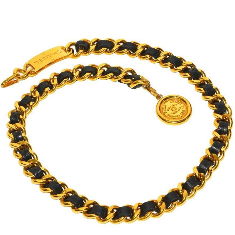 Classic Vintage Chanel Medallion Belt 1