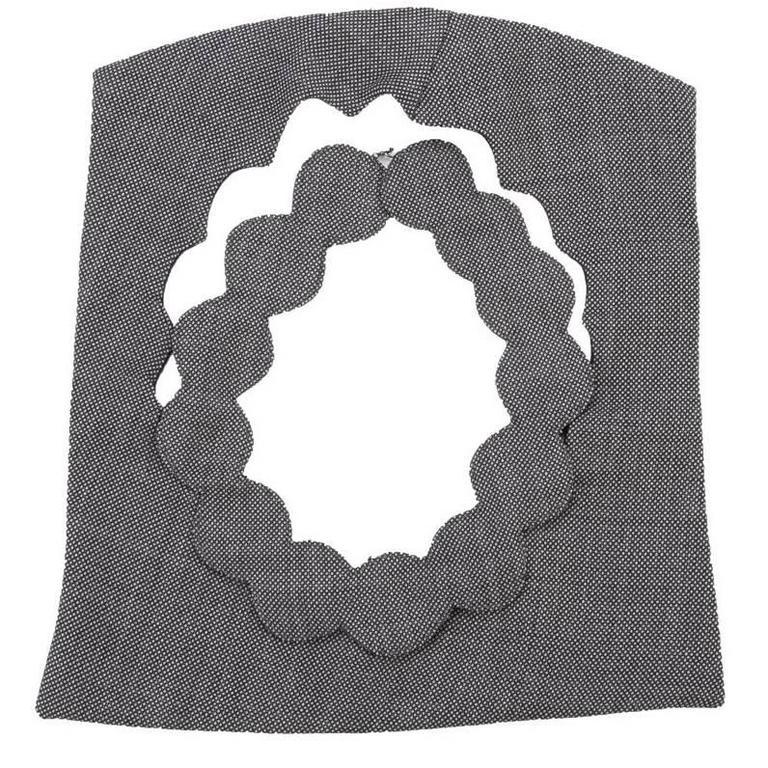 2002 Maison Martin Margiela Grey Fabric Cutout Neckpiece. For Sale