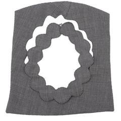 2002 Maison Martin Margiela Grey Fabric Cutout Neckpiece.