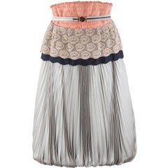 2008 Undercover Strapless Pleated Fang Detail Dress