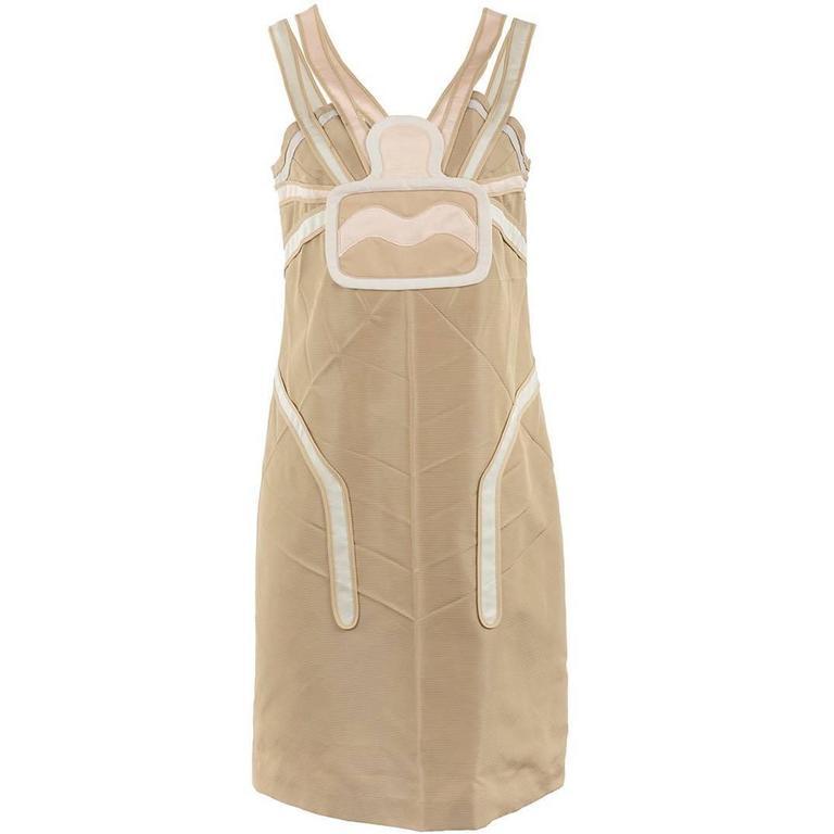Undercover Beige Silk Spider Dress