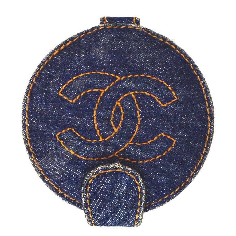 Chanel Denim CC Compact Mirror