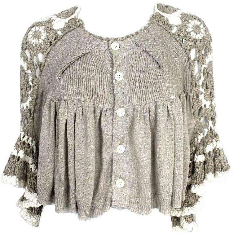 Tao Comme des Garcons Open Back Crochet/Knit Cardigan