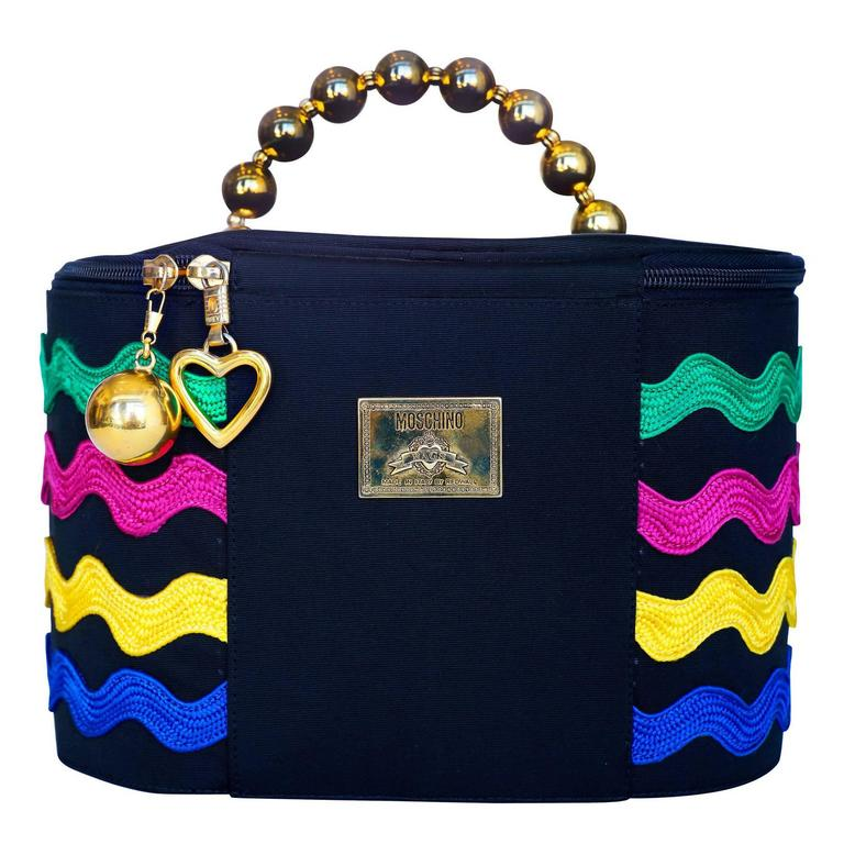 Moschino Train Case with Heart Charm, Circa 1980
