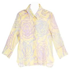 Chanel Multicolor Sheer Cotton Shirt