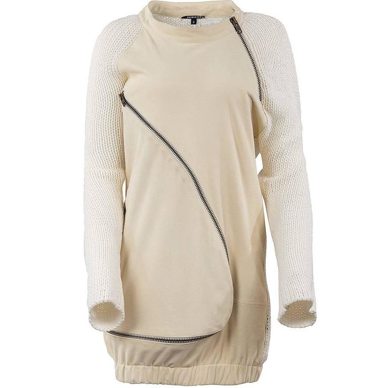 Thimister 2010 Couture Ecru Wool and Suede Tunic