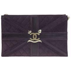 Chanel Purple Suede Union Jack