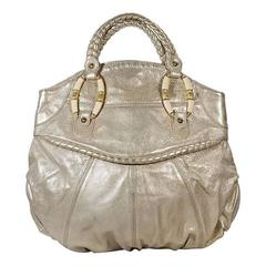 Metallic Gold Valentino Leather Handbag