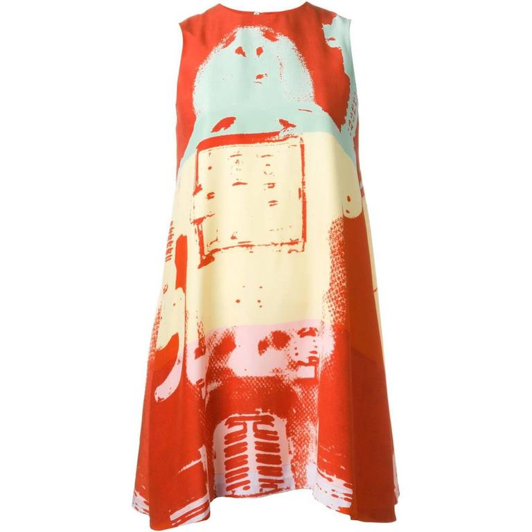 90's STEPHEN SPROUSE Andy Warhol graphic print dress 1