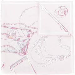 Chanel Vintage draft print scarf