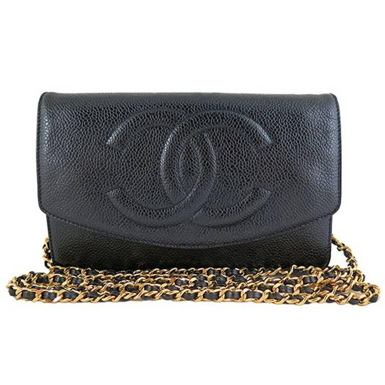 Chanel Woc Black Caviar Wallet On Chain 3 Way Crossbody Bag Best