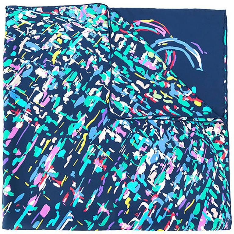 chanel multicolour scarf