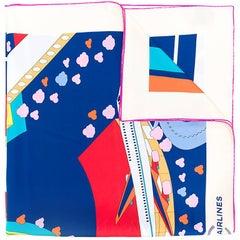 chanel logo scarf