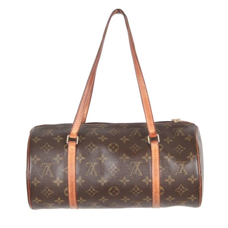 Louis Vuitton Brown Monogram Canvas Papillon 30 Handbag For Sale