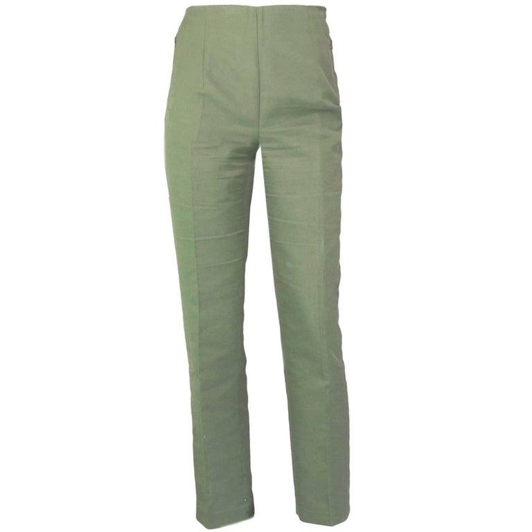 Akris Green Cropped Pants Sz 10 1