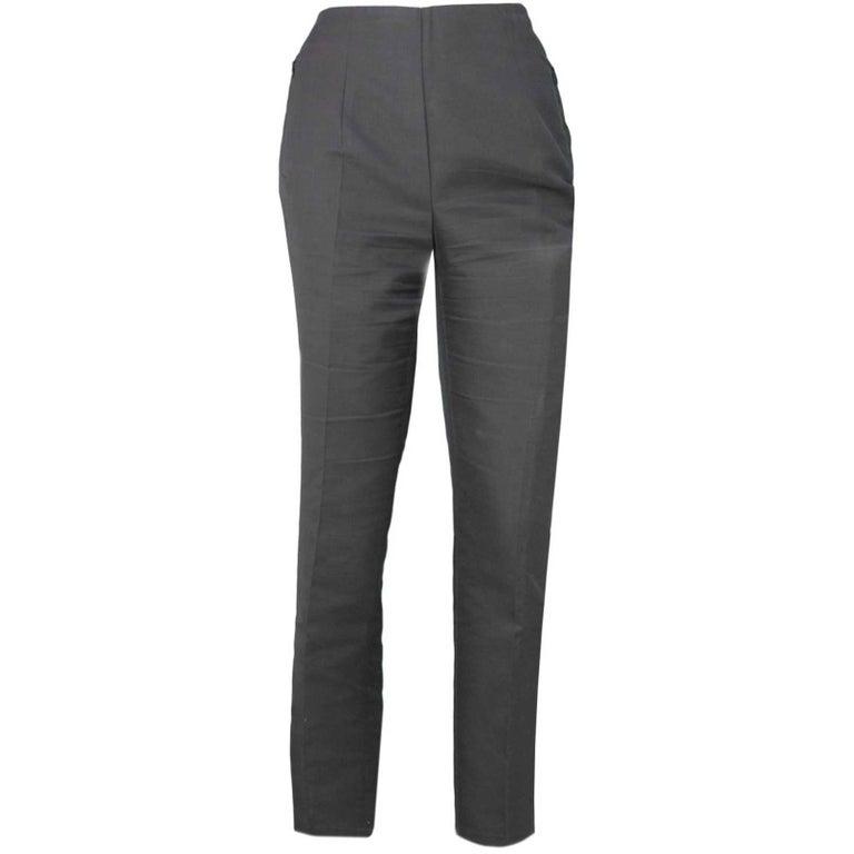 Akris Grey Cropped Pants Sz 8 1