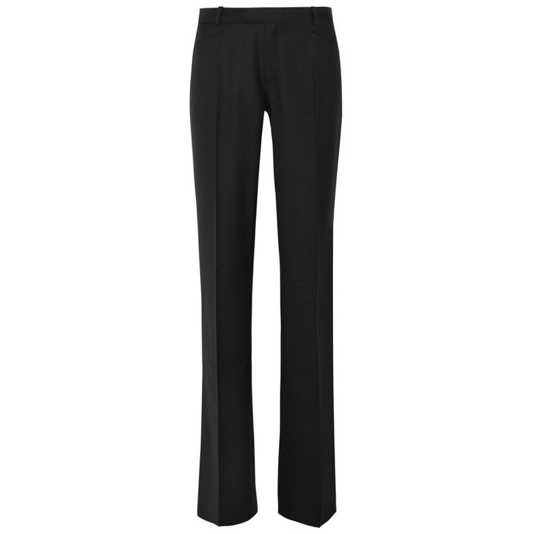 Joseph Black Wool Pants Sz IT42 NWT For Sale