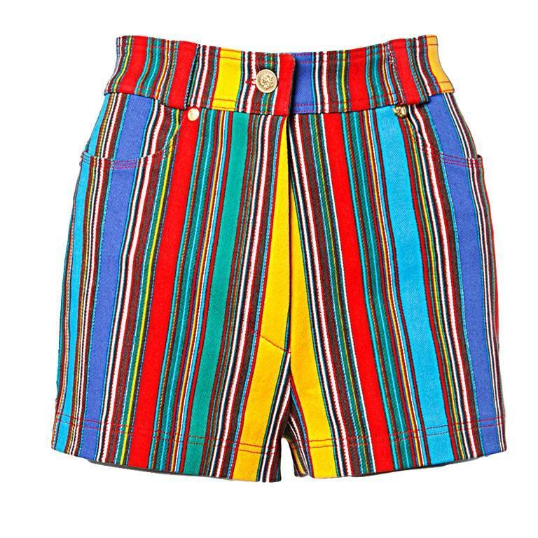 1993 Unworn Gianni Versace Couture Vintage Shorts as Worn by Naomi Campbell For Sale