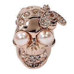 Rose Gold Alexander McQueen Skull & Bee Ring