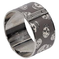 Grey & Silver Alexander McQueen Skull Bangle