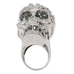 Silver Alexander McQueen Skull Cocktail Ring