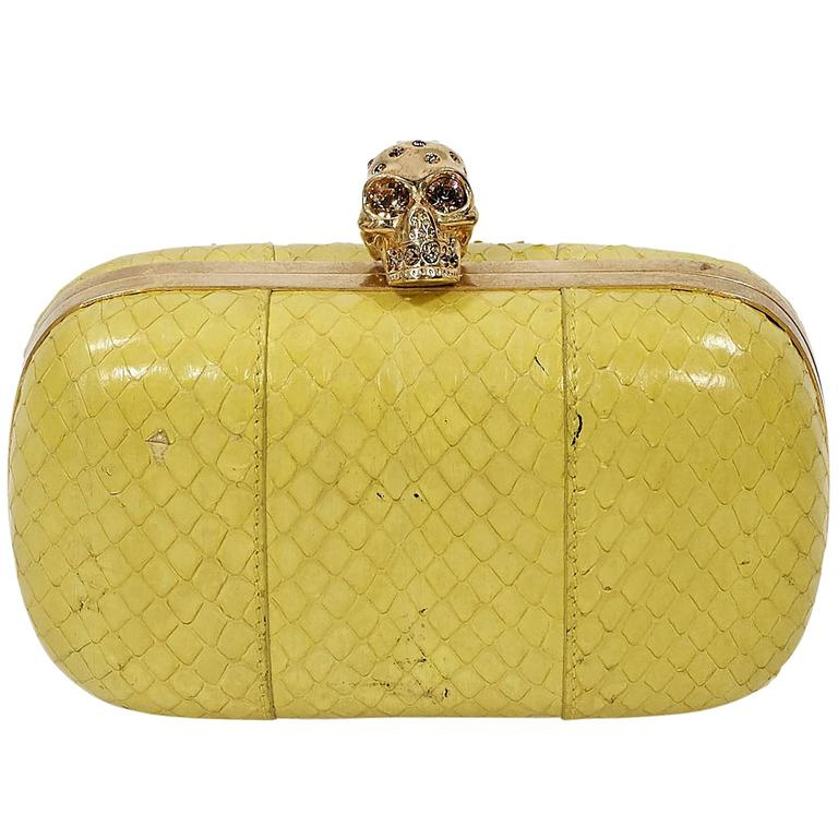 Yellow Alexander McQueen Box Clutch 1