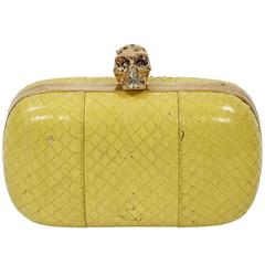 Yellow Alexander McQueen Box Clutch