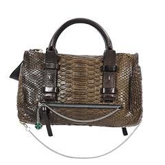 Brown Chloé Python Tote Bag