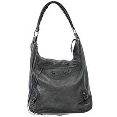 Grey Balenciaga Moto Shoulder Bag
